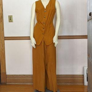Vintage Silk Hi Studio 2 piece  Top, Pant size Small and Medium